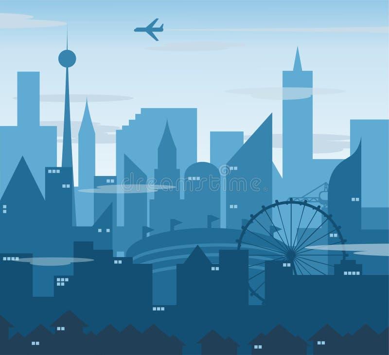 Une illustration de paysage de ville image stock