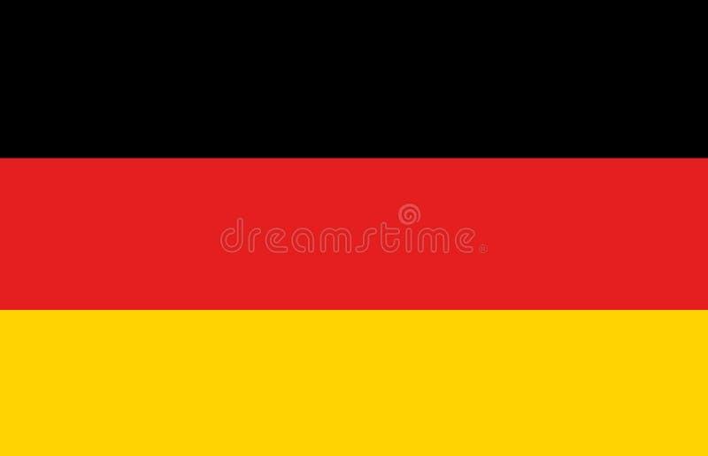 Une illustration générée par ordinateur de graphiques du drapeau de l'Allemagne illustration stock