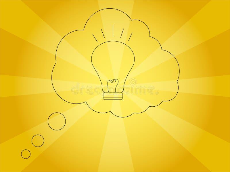Une illustration lumineuse de vecteur d'idée illustration de vecteur
