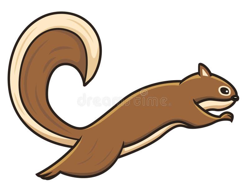 Une illustration sautante de vecteur d'écureuil image stock