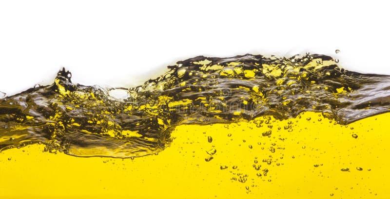Une image abstraite d'huile renversée image stock