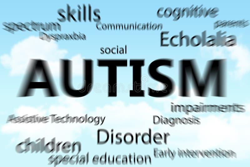 Une image composée d'autisme illustration stock