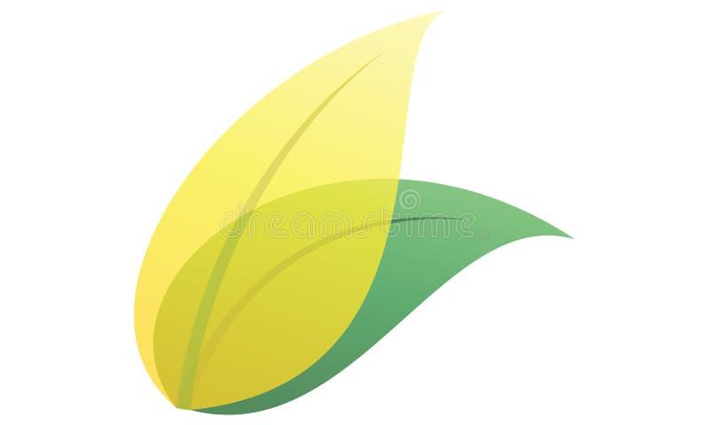 Une image 3d des feuilles dans la couleur douce illustration libre de droits