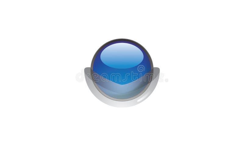 Une image 3d des globes dans la couleur bleue illustration de vecteur