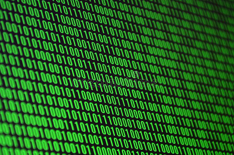 Une image d'un code binaire a composé d'un ensemble de chiffres verts sur un fond noir illustration de vecteur