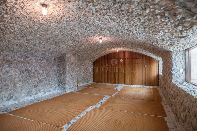 Une image d'un sauna en Corée image stock