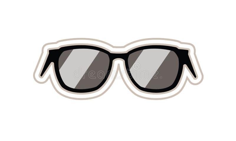 Une image de bande dessinée d'une paire de lunettes de soleil illustration stock
