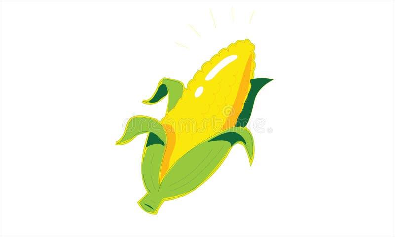 Une image de bande dessinée d'une tige de maïs illustration libre de droits