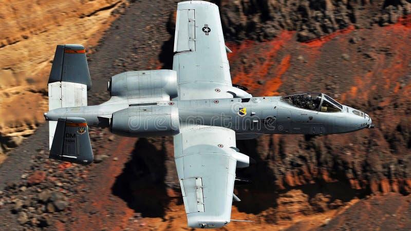 Une image de combattant du coup de foudre A-10 photographie stock