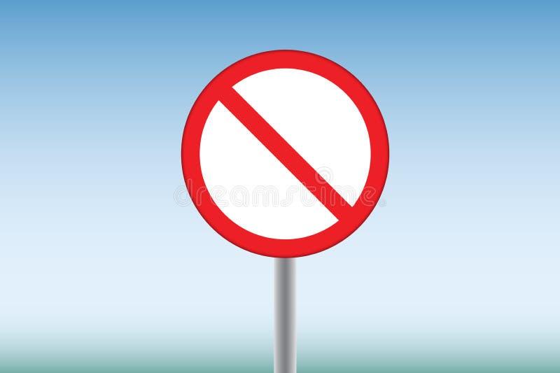 Une interdiction illustration de vecteur