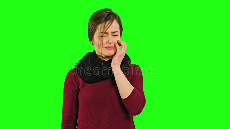 Une jeune dame triste et pleurer photos libres de droits