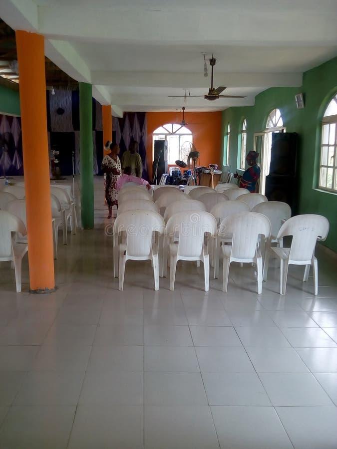 Une légende d'église en Afrique photo stock