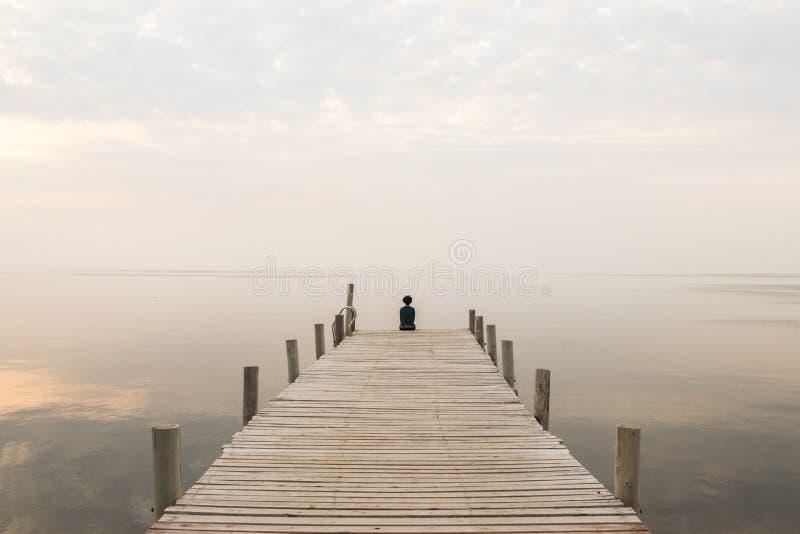 Une lagune sans horizons photographie stock libre de droits