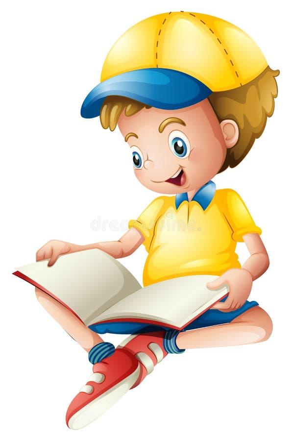 Une lecture d'enfant illustration stock