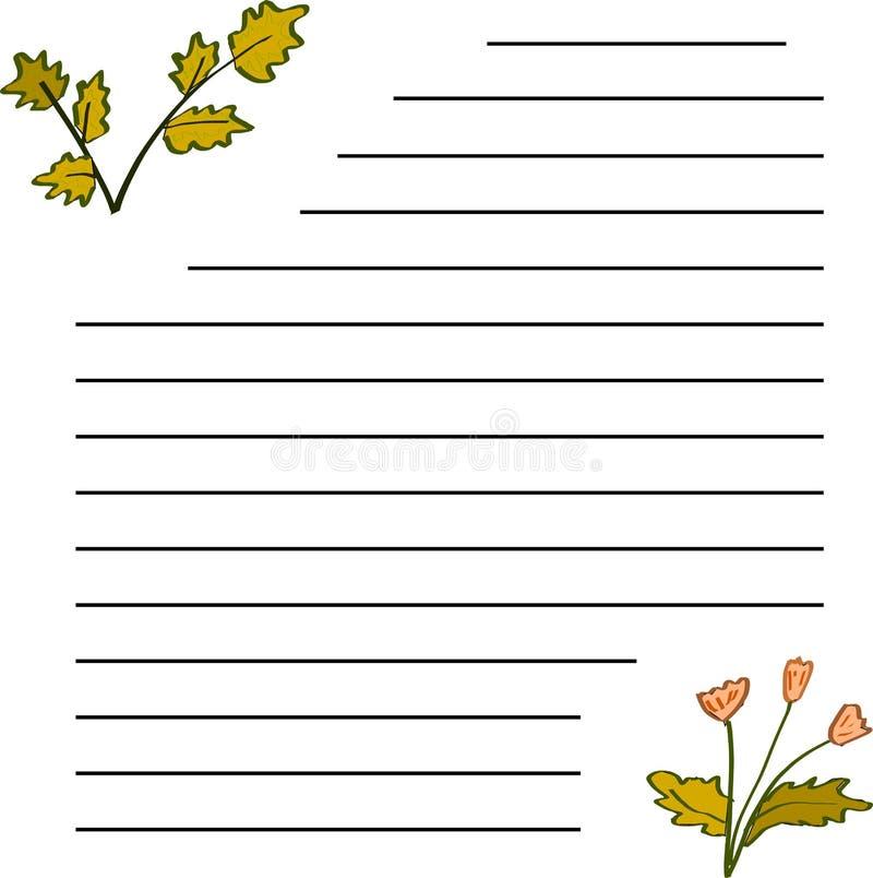 Une lettre avec deux photos d'automne photos stock
