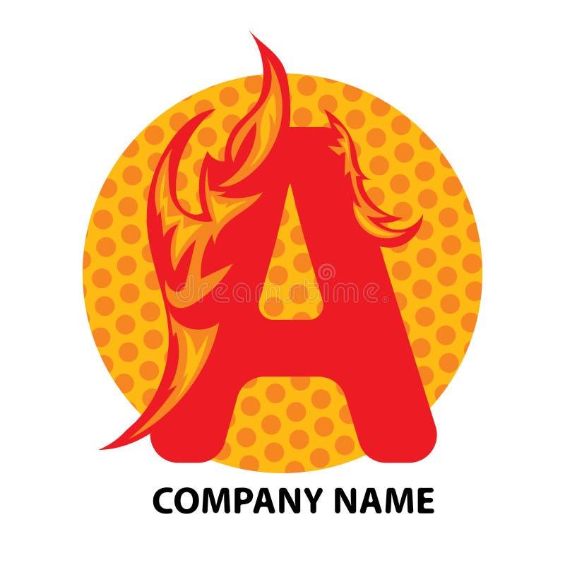 Une lettre Logo Design illustration libre de droits