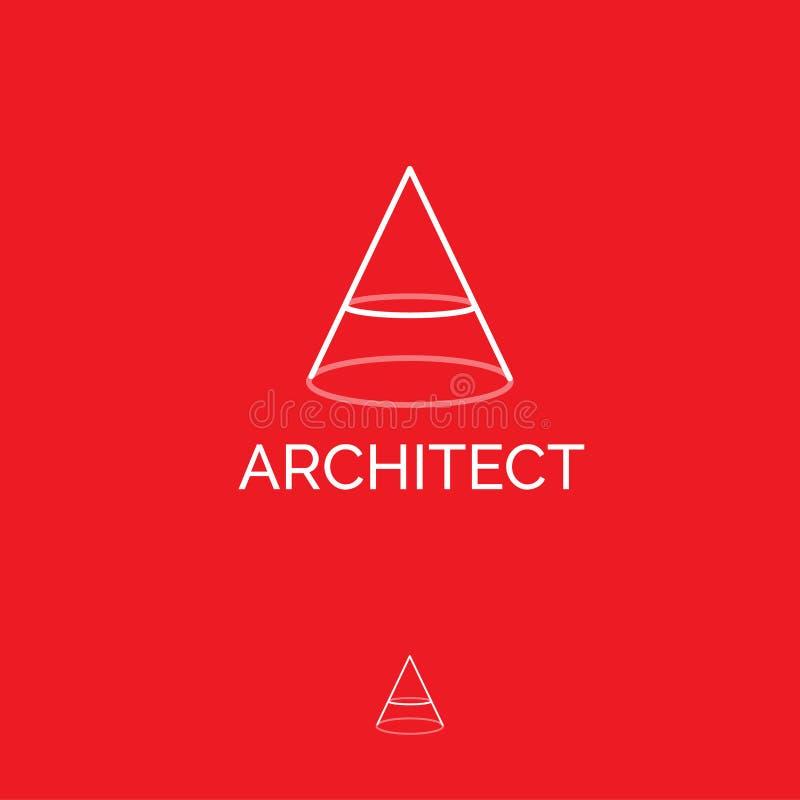 Une lettre Un monogramme Icône plate d'architecte La lettre A est semblable au diviseur illustration de vecteur