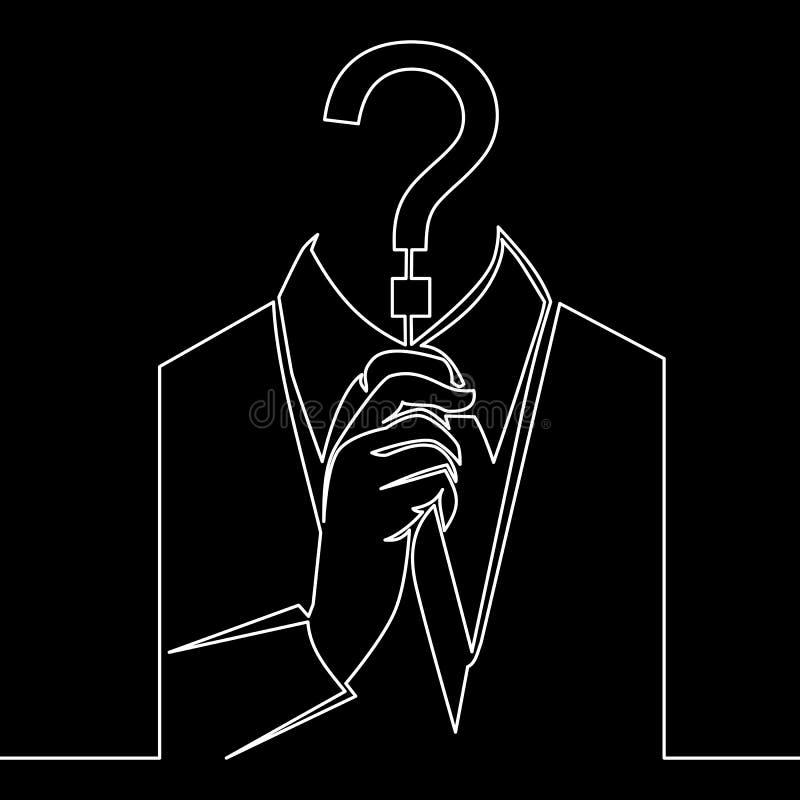 Une ligne continue ligne concept d'icône de fraude de Cyber illustration libre de droits