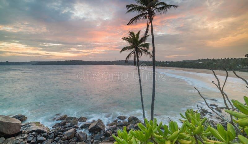 Une longue exposition de plage de Talalla images stock