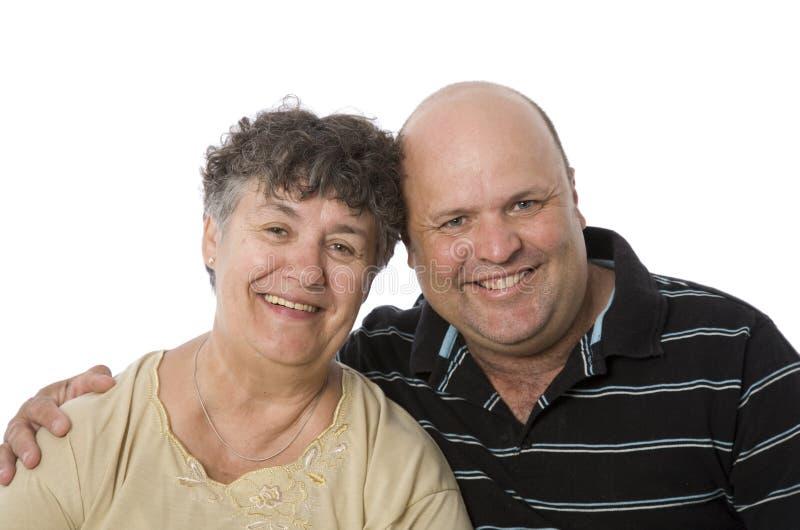 Une mère et un fils heureux images libres de droits