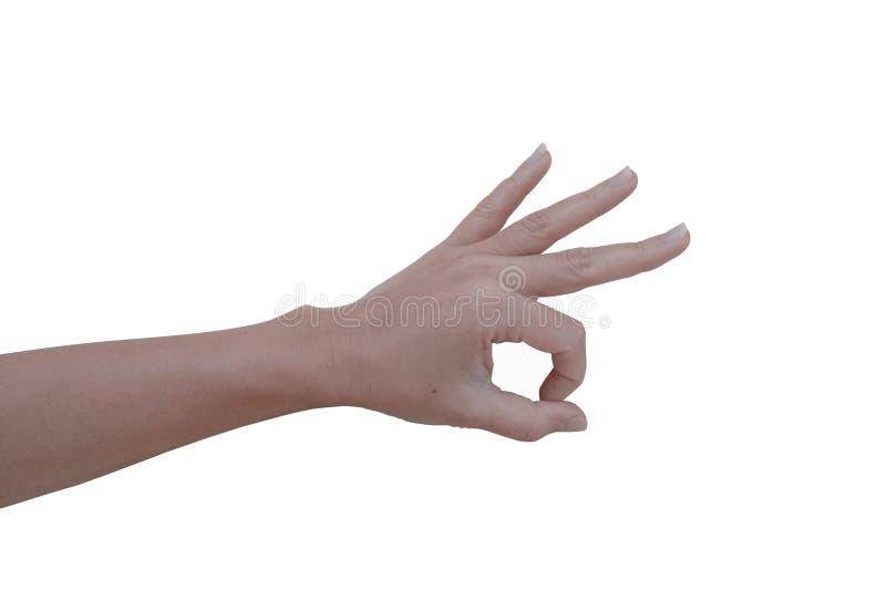 Une main de femme avec l'action photos stock