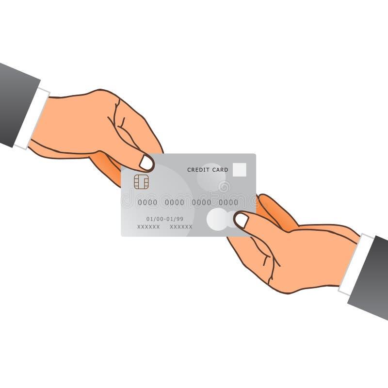 Une main donnant une carte de crédit Illustration de vecteur illustration de vecteur