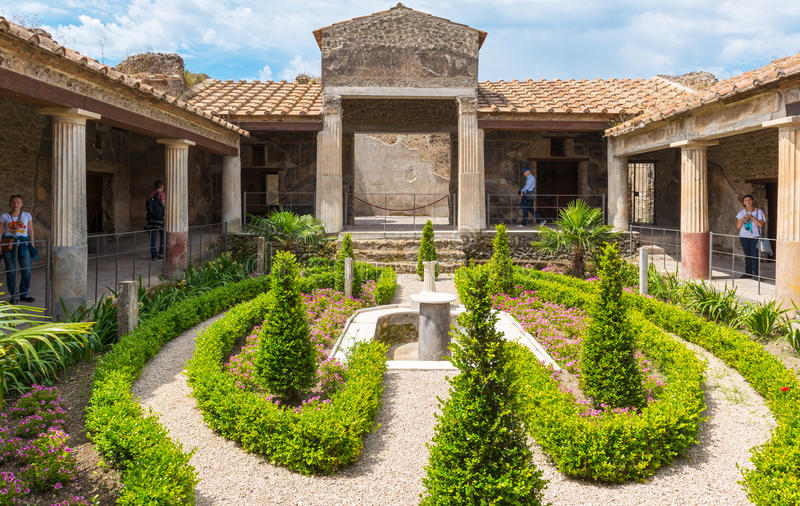 Une maison à Pompeii, Italie photo stock