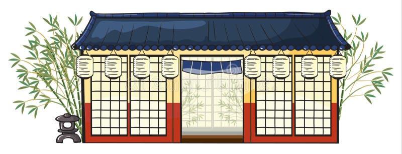 Une maison asiatique illustration de vecteur
