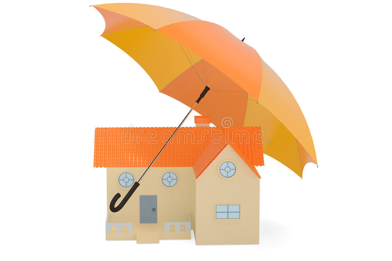Download Une Maison Avec Le Parapluie, Illustration 3D Illustration Stock - Illustration du ordinateur, finances: 87705234