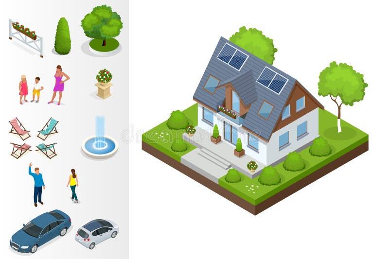 Une maison compacte d'eco illustration stock