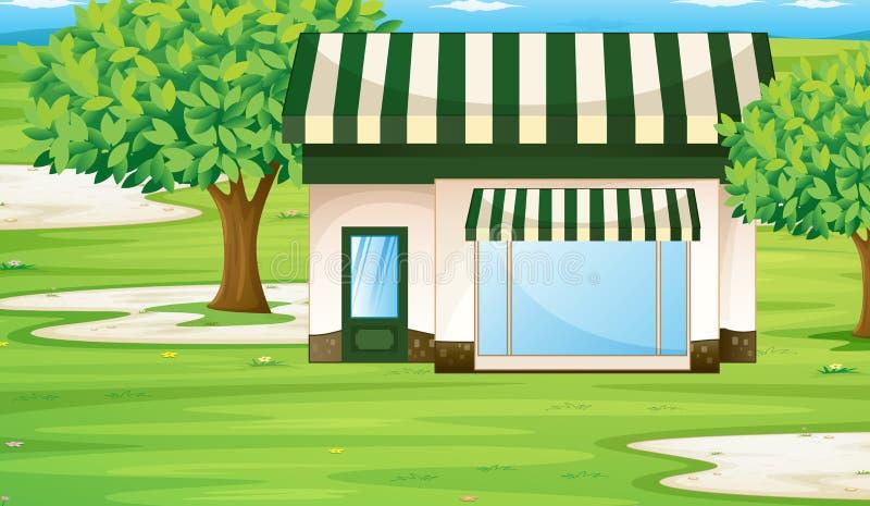 Une maison de tente illustration libre de droits