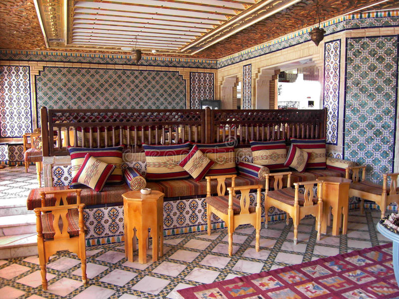 Une maison de thé en Tunisie photos stock