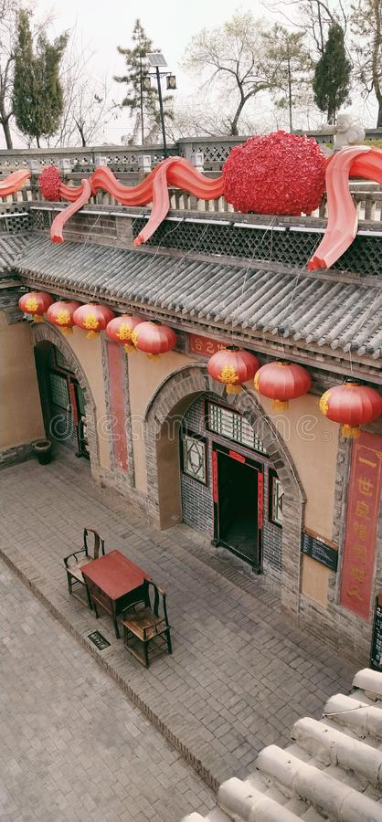 Une maison souterraine dans Shaanxi, Chine photographie stock