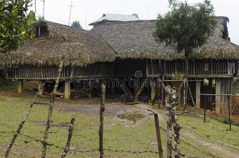 Une maison tribale image libre de droits