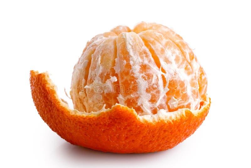 Une mandarine épluchée par moitié photos libres de droits