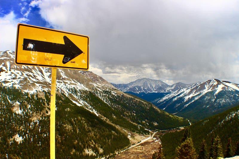 Une manière Passage de l'indépendance, Rocky Mountains, le Colorado photographie stock libre de droits
