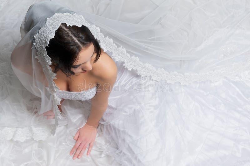 Une mariée de ci-avant image libre de droits