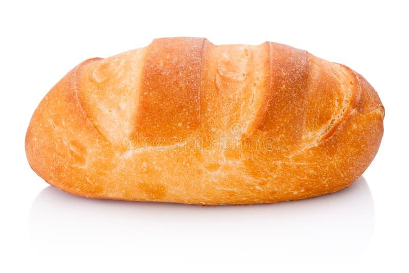 Une miche de pain d'isolement sur le fond blanc image stock