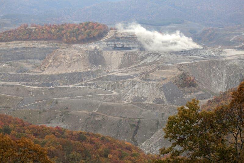 Une mine de charbon, Appalachia, Amérique photo stock
