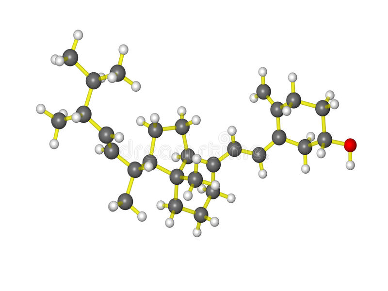 Une molécule de la vitamine d illustration libre de droits