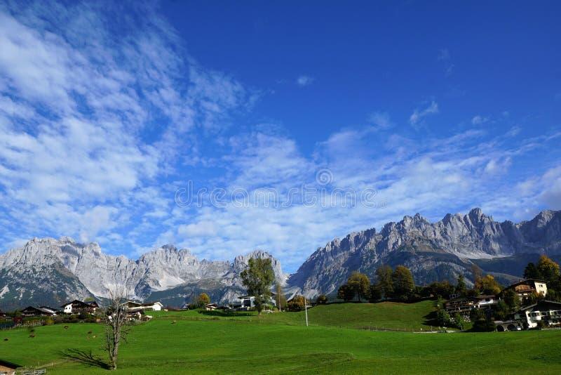 Une montagne plus sauvage de kaiser en Autriche photos libres de droits