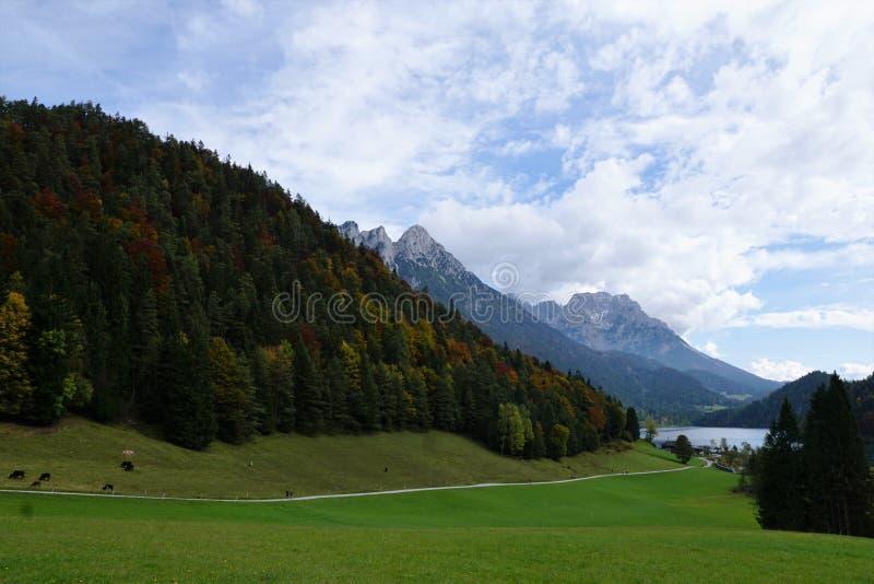 Une montagne plus sauvage de kaiser en Autriche photographie stock libre de droits