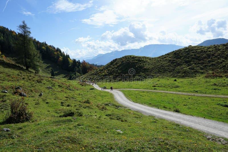 Une montagne plus sauvage de kaiser en Autriche image libre de droits