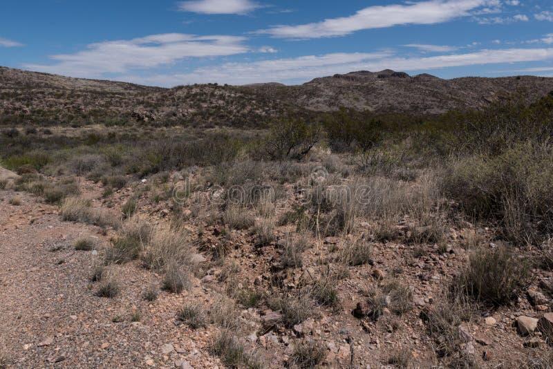 Une montagne scénique le long de la route nationale 27 dans le sud-ouest Nouveau Mexique photographie stock libre de droits
