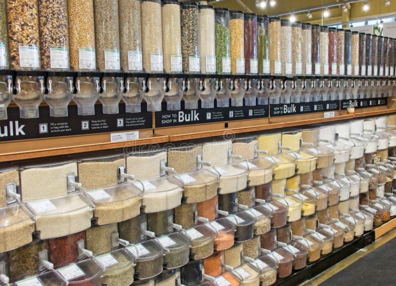 Une multitude d'options en vrac de nourriture photo libre de droits