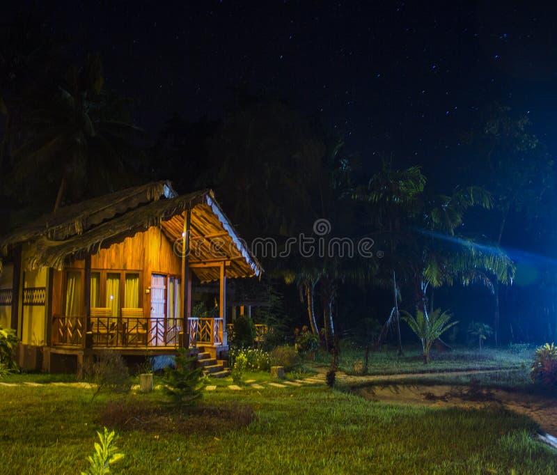 Une nuit en île de Havelock images libres de droits