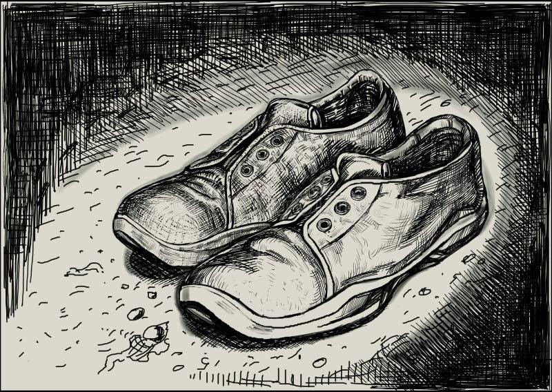 Une paire d'espadrilles illustration stock
