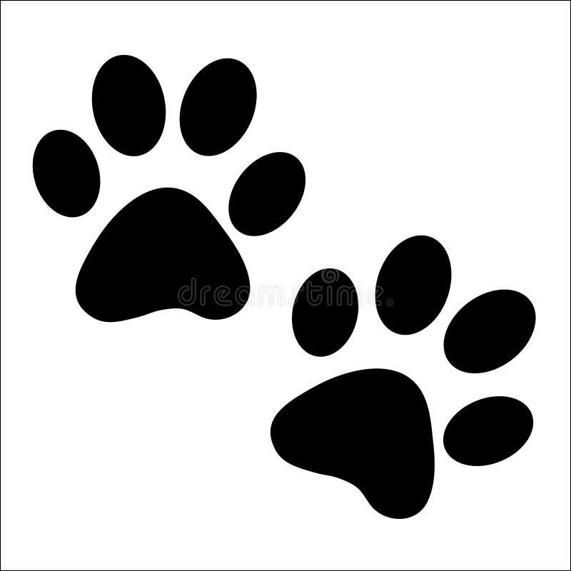 Download Une Paire D'impressions De Patte Illustration de Vecteur - Illustration du dessin, chaton: 7982400
