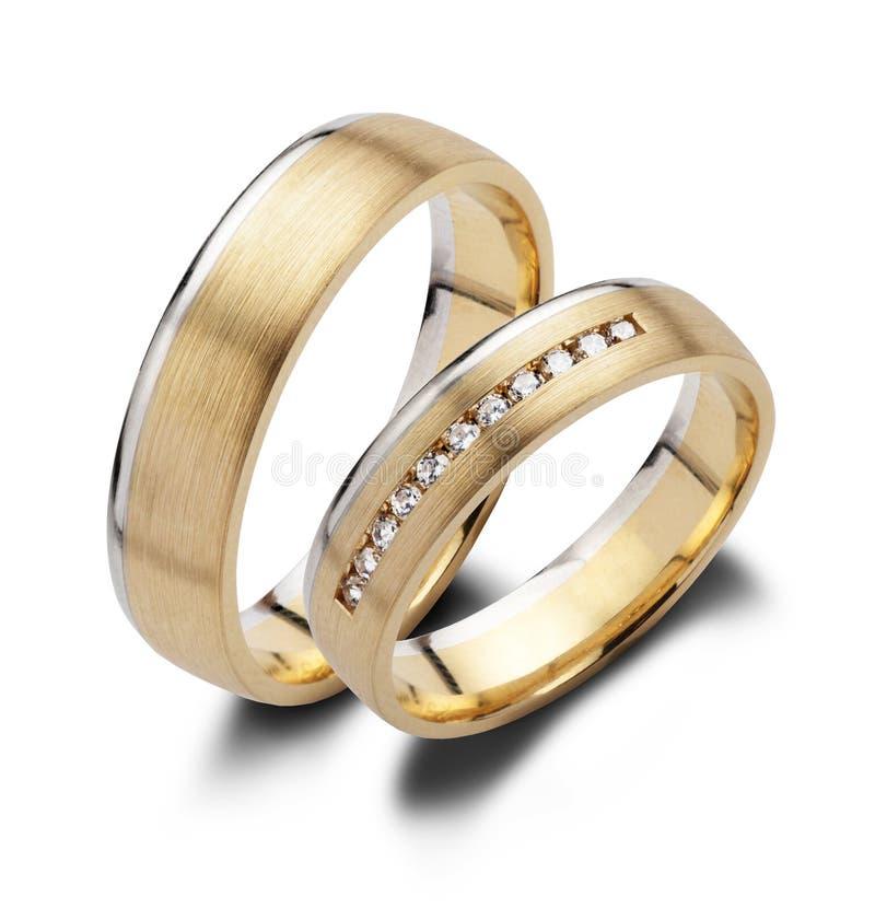 Une paire de boucles de mariage photos libres de droits