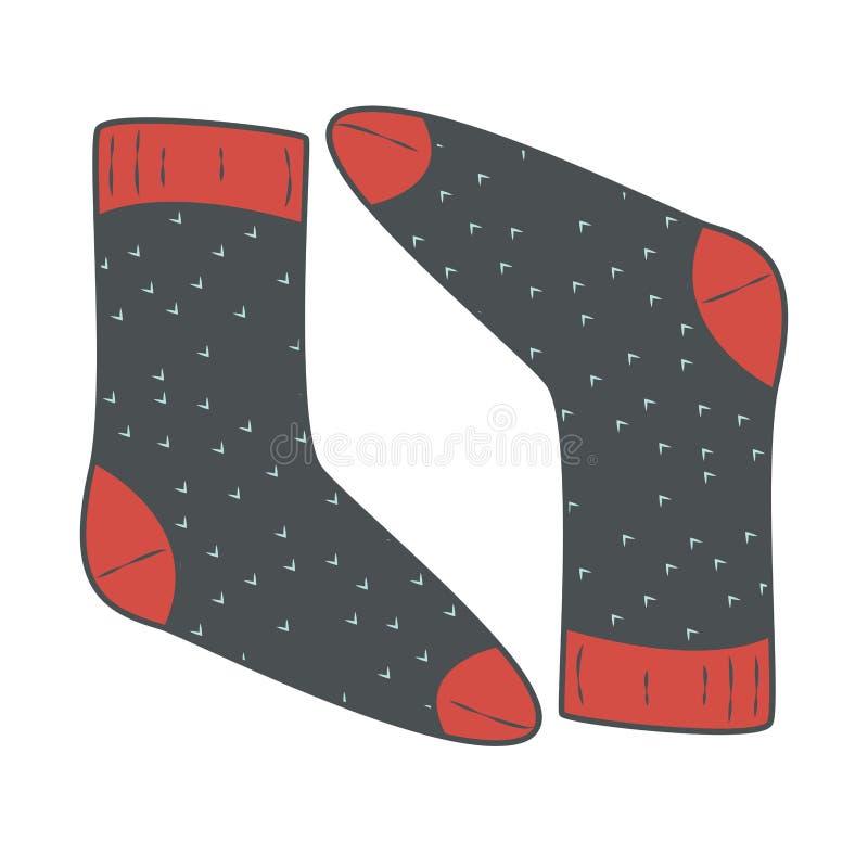 Une paire de chaussettes illustration libre de droits